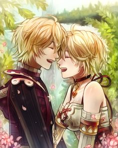 Shulk and Fiora - Xenoblade Chronicles by Firm