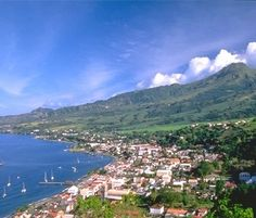 Looking northward along the coast at St. Pierre, Martinique.