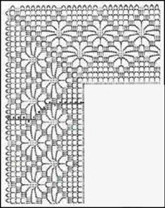 Captivating Crochet a Bodycon Dress Top Ideas. Dazzling Crochet a Bodycon Dress Top Ideas. Crochet Edging Patterns, Crochet Lace Edging, Crochet Borders, Crochet Diagram, Crochet Blouse, Crochet Chart, Crochet Doilies, Crochet Flowers, Crochet Stitches
