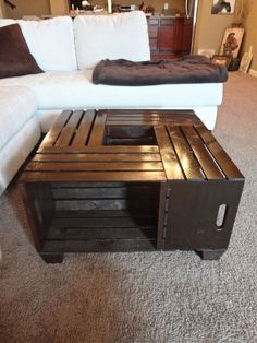 DYI crate coffee table