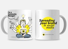 Piezas originales diseñadas en exclusiva por Pasionteki para los apasionados profesionales del Marketing y la Comunicación Digital. ------- Por eso, porque eres un apasionado del Marketing Digital, Pasionteki te dedica esta pieza, ahora tienes un papel fundamental en la economía digital ...piensa en ello mientras te tomas tu café diario a media mañana. Community Manager, Marketing Digital, Brand You, Social Media, Mugs, Tableware, Paper, Original Gifts, Personalized Cups
