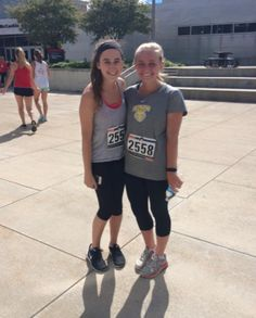 Rachel and Ellie running a 5k together!