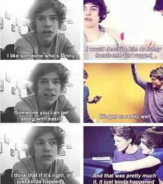 remember when every time they asked him about his perfect partner he always was describing Louis.