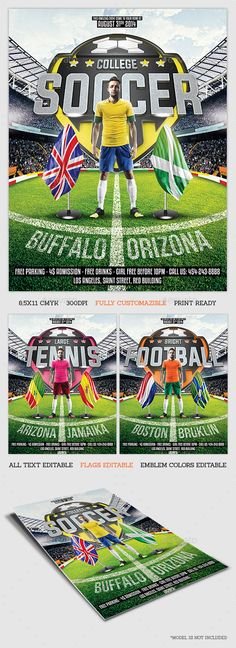 Big Game Football Flyer Template Flyer template, Template and - sports flyer template