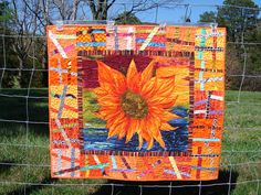 Sunflower wall quilt by Quiltsbyma