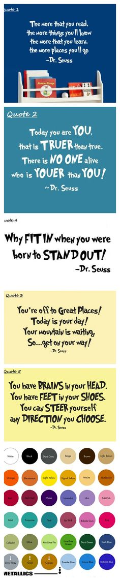 Dr. Seuss Vinyl Quotes  $8.99  #drseussday #quotes #inspirational #sayings #kidsroom #wallart