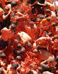 La Tomatina festival 2012: the annual tomato fight in Bunol, Valencia, Spain - Telegraph