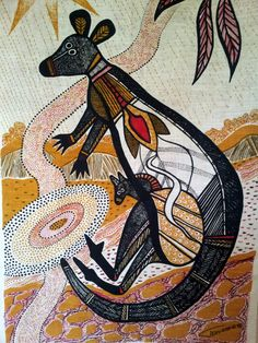 Aboriginal Art Animals, Aboriginal Painting, Aboriginal Artists, Dot Painting, Encaustic Painting, Indigenous Australian Art, Indigenous Art, Arte Tribal, Tribal Art