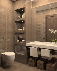 Luxury tiled bathroom that you can achieve in your home! #inspiration #luxury #bathroom #interiordesign by 101residential