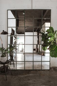 Industrial Mirrors, Industrial Home Design, Industrial Style, Ikea Industrial, Industrial Apartment, Ikea Mirror Hack, Ikea Mirror Ideas, Ikea Hemnes Mirror, Beach House Decor