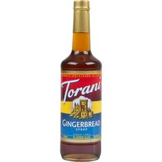 Bring all new flavors to your specialty drink menu with this Torani gingerbread flavoring syrup! This tempting flavor will complement your beverages without overpowering them or being too sweet, while the user-friendly bottle will be convenient for your busy baristas to use. Torani flavoring syrups are specially formulated to resist curdling in milk and to hold up well under heat, making them the perfect choice for espresso-based drinks, brewed coffee or tea, and more. Use this flavor for…