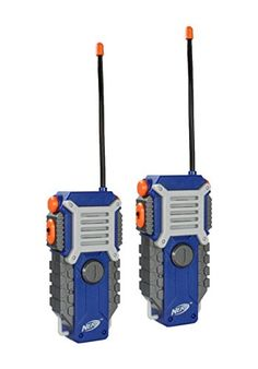 NERF Walkie Talkie for Kids Fun at The Touch of a Button, Set of 1000 feet Range by Sakar, Rugged Pair Battery Powered Gray Blue & Orange - Toys Outdoor Toys For Boys, Arma Nerf, Pistola Nerf, Cool Nerf Guns, Nerf Toys, Nerf Party, Games For Kids, Kids Fun, Kids Toys For Boys