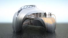 Thomas Heatherwick talks to Dezeen about his design for a riverboat in France in this interview filmed by Dezeen at Heatherwick's ongoing exhibition at the V museum in London. #boat #modern #luxury