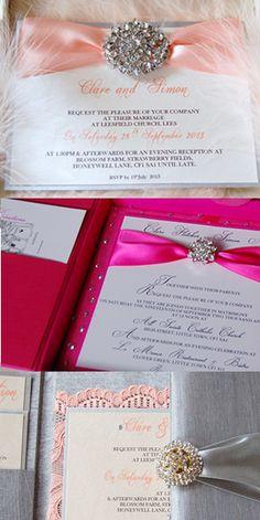 Luxury invitations in silk boxes