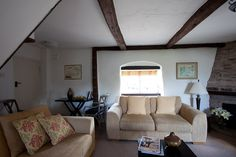 The lounge of the Cottage Suite at the Tudor Farmhouse Hotel, Clearwell.