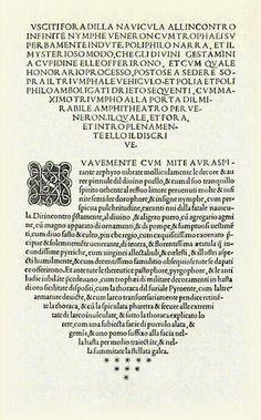 Cul de llàntia., Francesco Colonna, página del Hypnerotomachia Poliphili, edició impresa per Aldus Manutius, Venecia, 1499, Pàgina 326