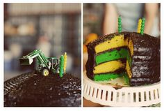 kids tractor  with tracks | John Deere Green and Yellow. Oohs and Ahs ensued. The green layers ...