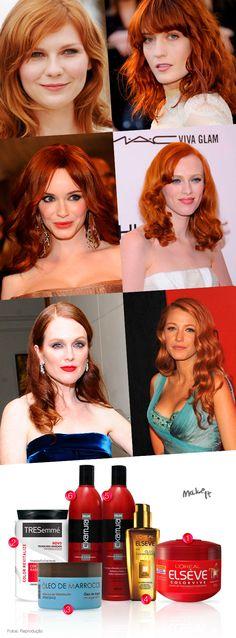 No Make It: A vez dos ruivos: cabelos vermelhos lindos e bem tratados