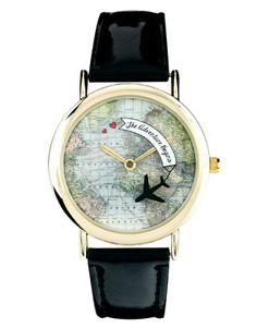 ASOS Rotating Globe Adventure Watch - pretty cool!