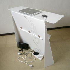 Console - bureau d'appoint en acier Zeta | Studio Manzano