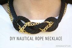 DIY: Nautical Rope necklace!