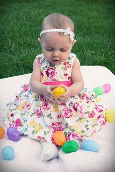 Babys First Easter Picture