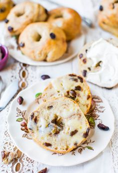 Easy Homemade Cinnamon Raisin Bagels - Recipe at averiecooks.com @Averie Sunshine {Averie Cooks}