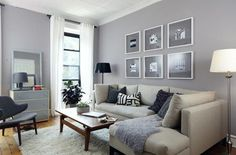 Grey Walls Cream Couch White Trim By Rowena Scandinavian Living Room With  Grey Walls From Createcph