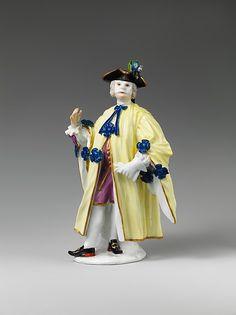 Meissen Manufactory (German, 1710–present). Masquerader (one of a pair), 1745. The Metropolitan Museum of Art, New York. Gift of Irwin Untermyer, 1964 (64.101.69) #halloween #costume