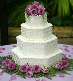 square wedding cake decorating ideas for beginners pictures - Bing Images