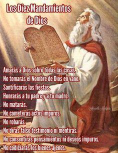 LOS DIEZ MANDAMIENTOS DE DIOS .  Amarás a Dios sobre todas las cosas.  No tomarás el Nombre de Dios en vano.  Santificarás las fiestas.  H...