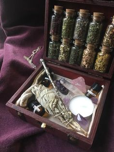witchcraft travel potion making altar etsy kit TRAVEL WITCHCRAFT KIT travel altar kit potion making kit EtsyYou can find Witchcraft potions and more on our website Witch Craft, Witch Decor, Autel Wiccan, Magick, Witch Alter, Baby Witch, Modern Witch, Witch Aesthetic, Book Of Shadows