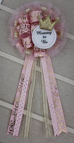 Mommy to Be Corsage Mommy to Be Pin Baby Girl Shower Theme