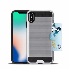 Brushed Metal Case for iPhone XS Max Iphone 11, Iphone Cases, Office Gadgets, Latest Gadgets, Brushed Metal, Card Wallet, Leather Case, Slot, Smartphone