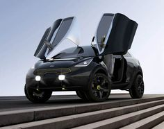 Battle tank from the future or Voltron's (vehicle) foot? You decide! Great concept, any way you look at it :)  kia niro concept 05 Kia Niro Concept