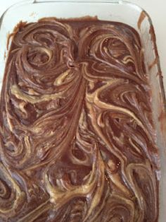 Peanut Butter Swirl Brownies...use this recipe with your homemade brownie mix :)