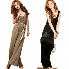 $ 6.35 Fashion Sexy Casual Ladies Halter Tube Romper Cat Suit Sleeveless Wide Leg Pants Jumpsuits