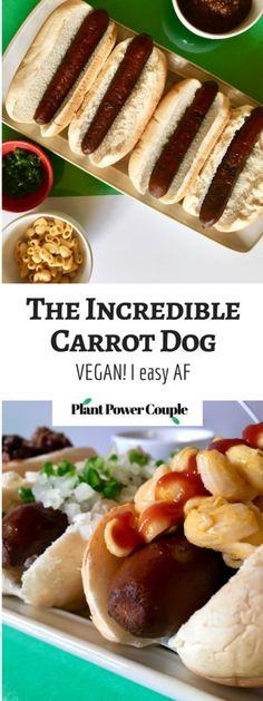 This incredible carrot dog recipe is almost too good to be believed, until you try it that is! :) It's a simple, easy, vegan recipe that will really surprise you with how spot-on it tastes! // plantpowercouple.com
