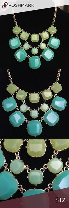Green Bauble Necklace Three shades of green baubles in a gold tone setting! Really fun!!💖💖💖 Jewelry Necklaces