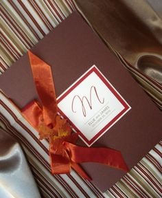 Leaf It Up To Me Wedding Ceremony Program in Chocolate Brown