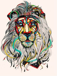Awesome lion art, no idea who the artist is.