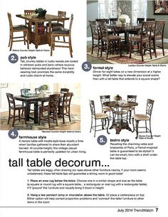 July TrendWatch - Page 7 | by Ashley Furniture HomeStore #CasualDining #Dining #Tables #Home