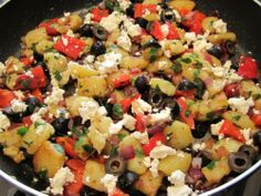 Crumble the feta cheese on top to finish