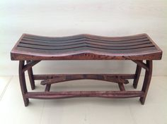 Wine Barrel bench by PicassoDesign on Etsy, $599.99