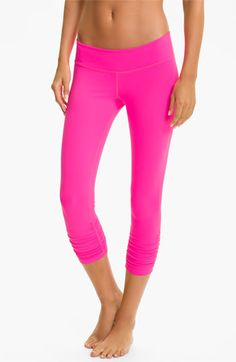 Beyond Yoga Gathered Capri Leggings | Nordstrom  I LOVE THESE!