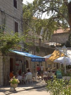 Pavement Cafe, Cavtat, Dalmatia, Croatia http://www.adriaticaccommodation.net/search/croatia/split-dalmatia