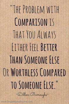 self comparison