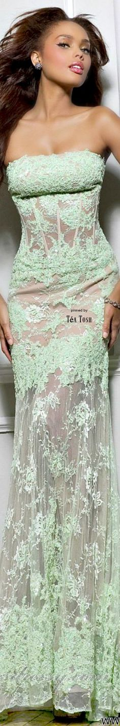 Lace Prom Dress x MissDressy Long Formal Gowns, Strapless Dress Formal, Formal Dresses, Evening Dresses, Prom Dresses, Green Fashion, Festival Outfits, Beautiful Gowns, Looking For Women