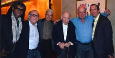 Me after dinner with music icons Tommy LiPuma, Claude Nobs, George Wein, Seymour Stein and Tom Silverman.