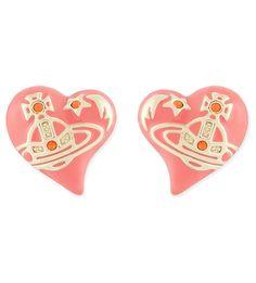 VIVIENNE WESTWOOD - Elisabeth heart earrings   Selfridges.com